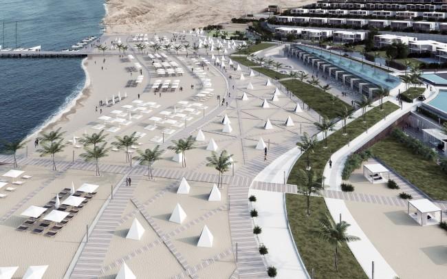 Waterfront Jefeira resort beach